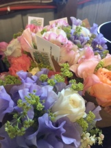 Sweet pea and ranunculus bouquets